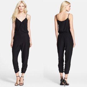 NWT Parker Liv Surplice Silk Crop Jumpsuit